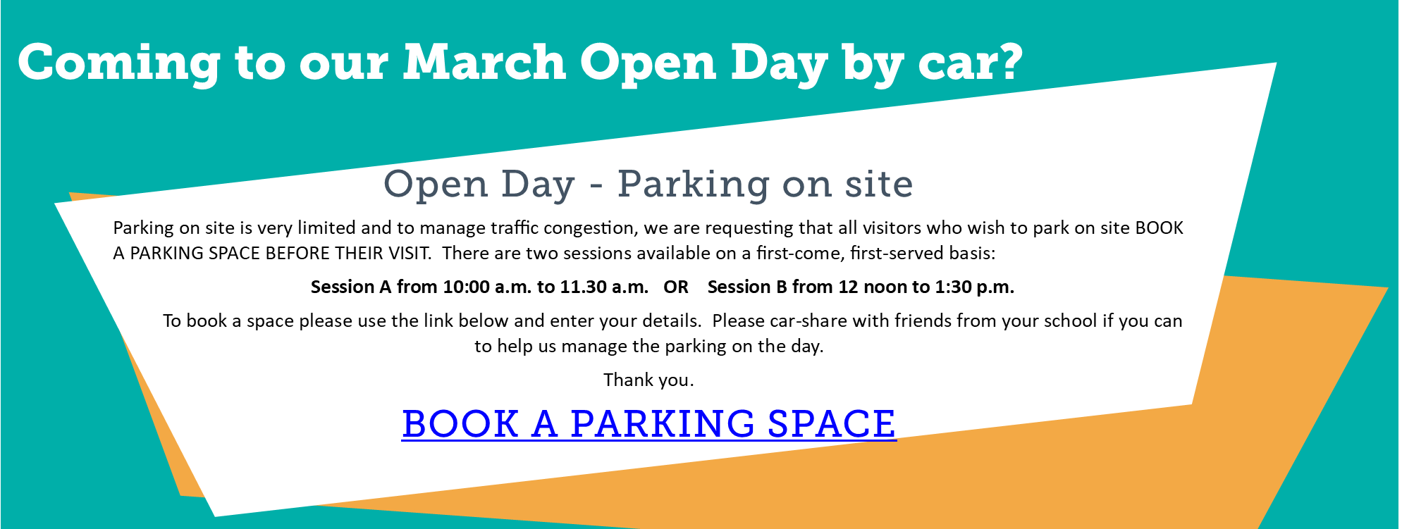 March Open Day 2020